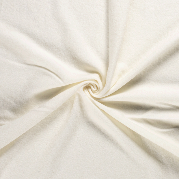 Boiled wool fabric Off White