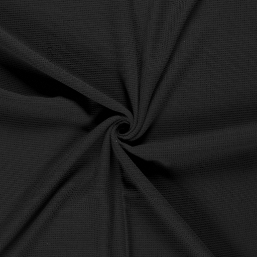 Towelling fabric Black