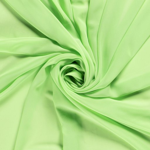 Chiffon fabric Unicolour Lime Green