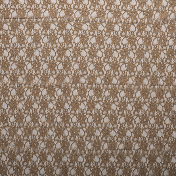 Lace fabric Camel matte