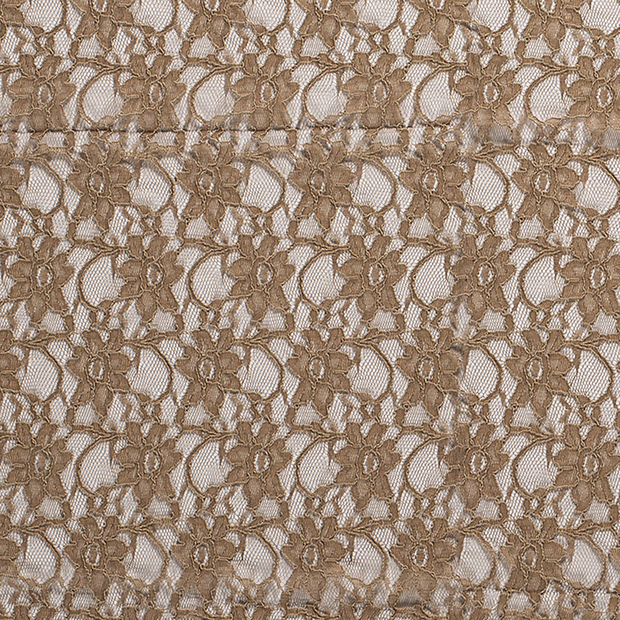 Lace fabric Unicolour Camel