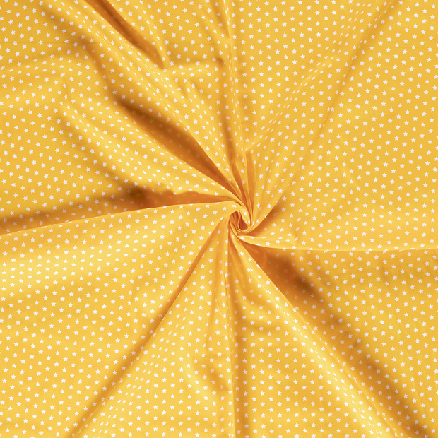 Poplin fabric Yellow printed