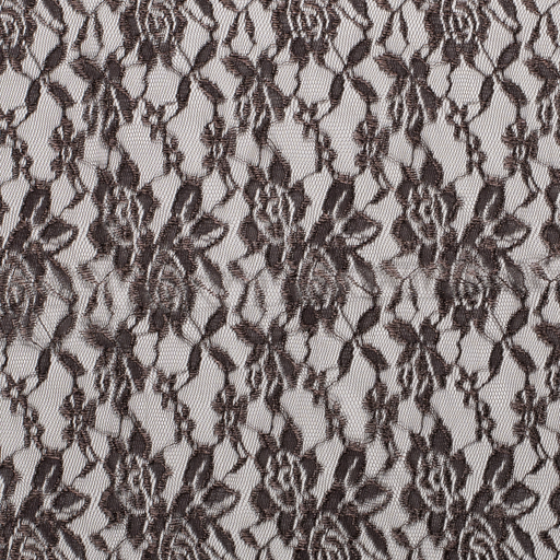 Lace fabric Unicolour Dark Brown