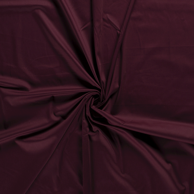 Satin fabric Wine red