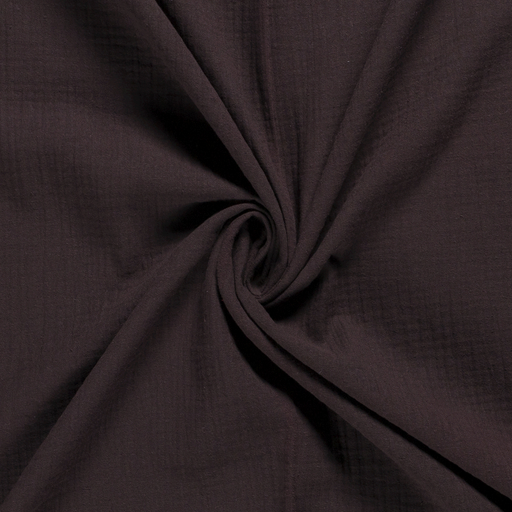 Muslin fabric Unicolour Dark Brown
