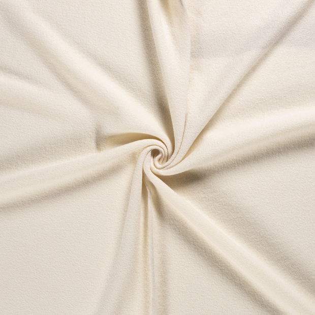 Woollen cloth fabric Off White