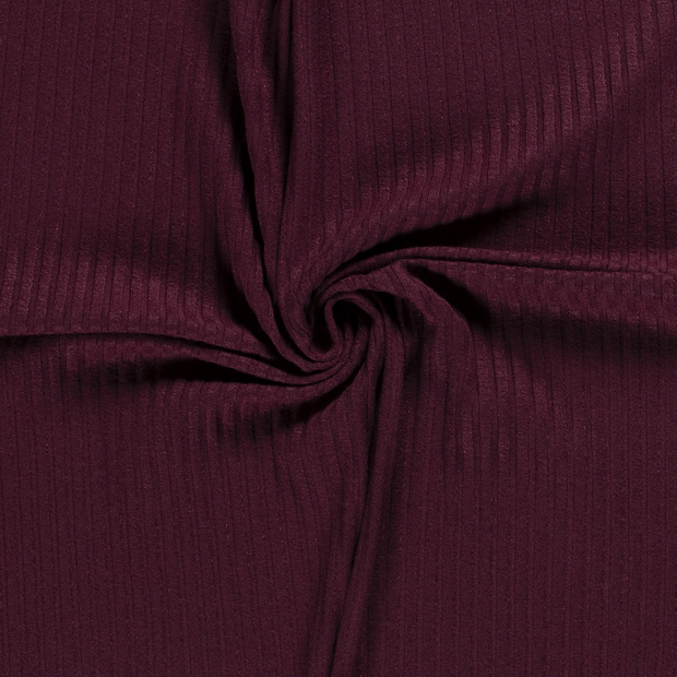 Knitted fabric fabric Unicolour Wine red