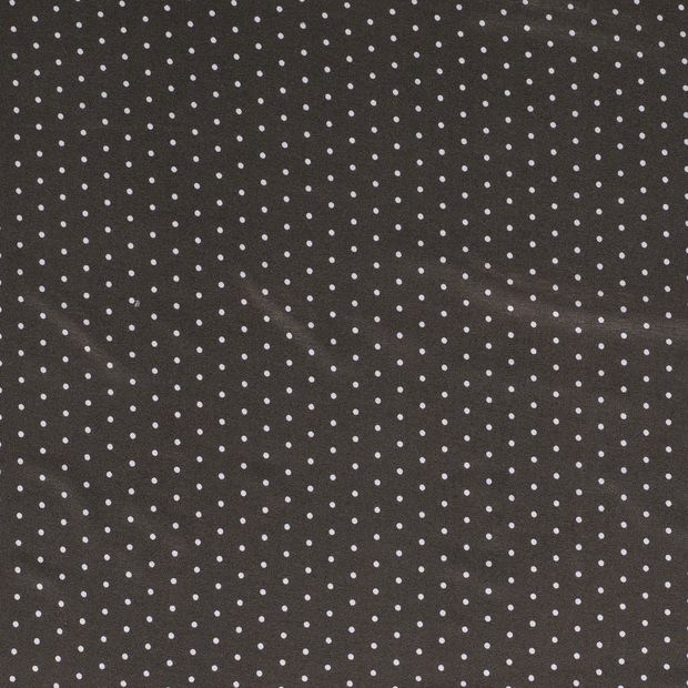 Jersey fabric Dots Taupe Brown