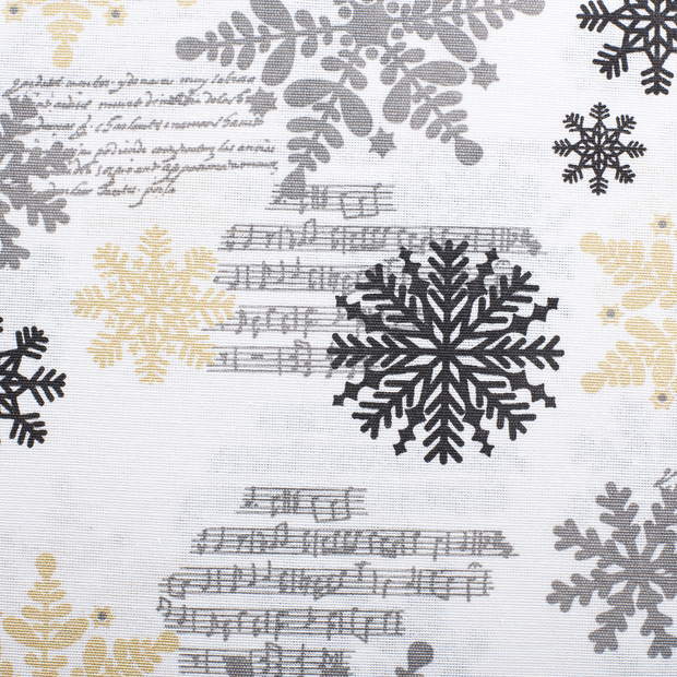 Panama fabric Christmas Gold