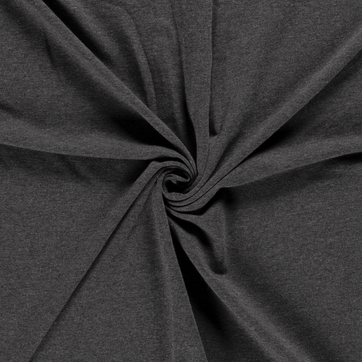 French Terry fabric Unicolour Dark Grey