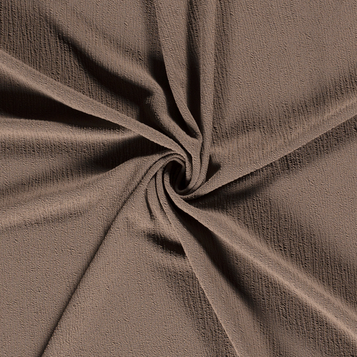 Knitted fabric fabric Unicolour Taupe Brown