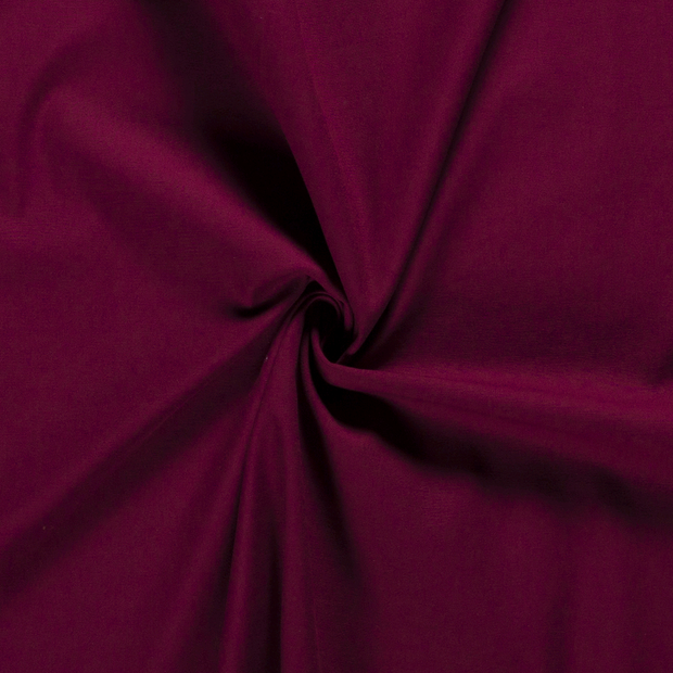 Twill fabric Unicolour Bordeaux
