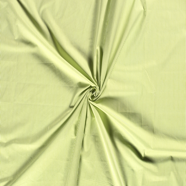 Poplin fabric Green printed