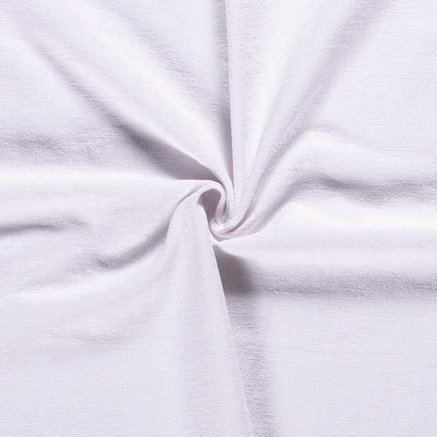 Ramie Linen fabric Unicolour White