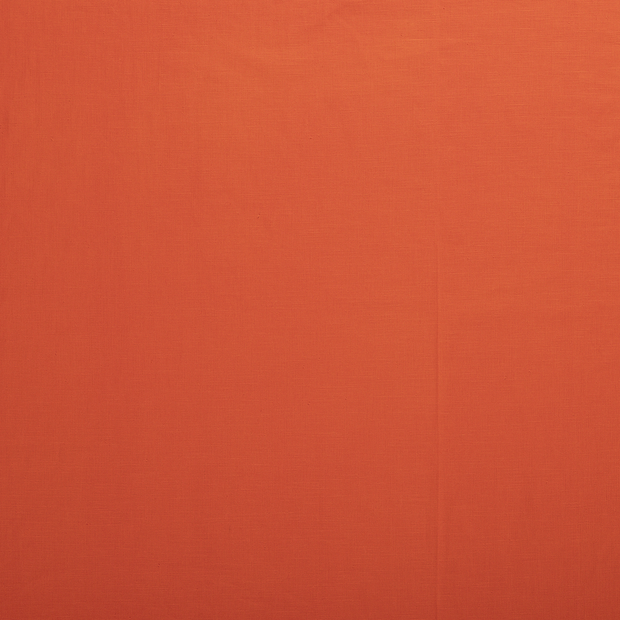 Pure linen fabric Orange matte