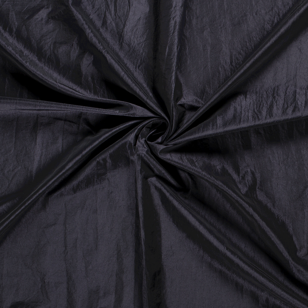 Taffeta fabric Navy crushed