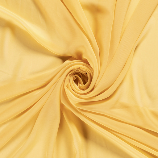 Chiffon fabric Unicolour Yellow