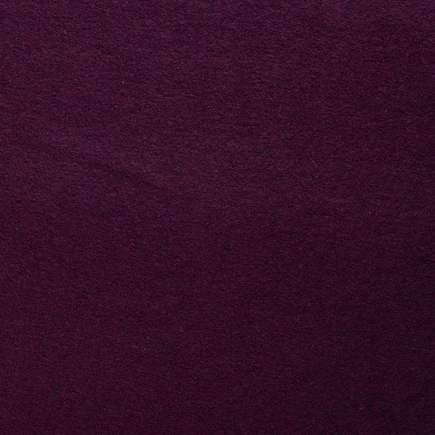 Boiled wool fabric Wine red matte