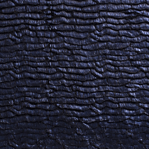 Faux fur fabric Abstract Cobalt