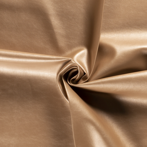 Imitation leather fabric Unicolour Gold