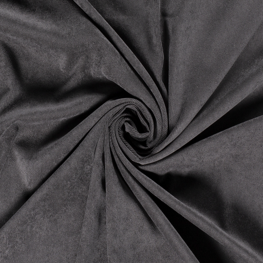 Corduroy fabric Unicolour Dark Grey