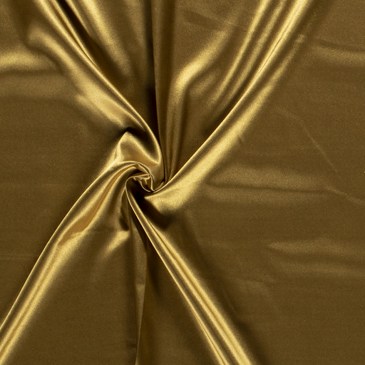 Satin fabric Unicolour Gold