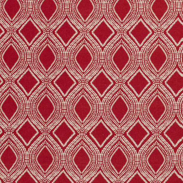 Linen Look fabric Red