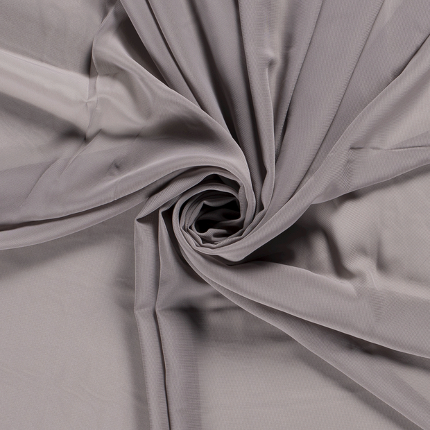 Chiffon fabric Unicolour Middle Grey