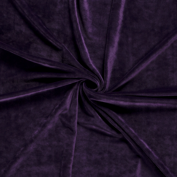 Velvet fabric Unicolour Purple