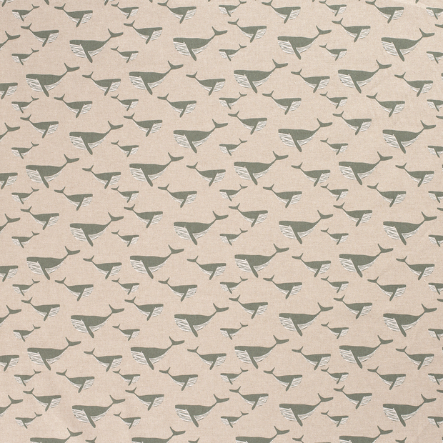 Linen Look fabric Olive matte