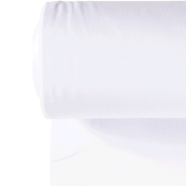 Cuff material fabric Unicolour Optical White