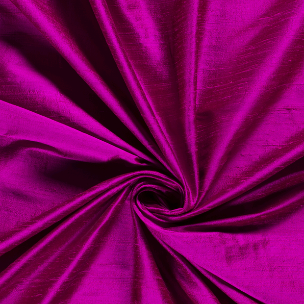 Silk Dupion fabric Unicolour Fuchsia