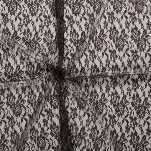 Lace fabric Dark Brown