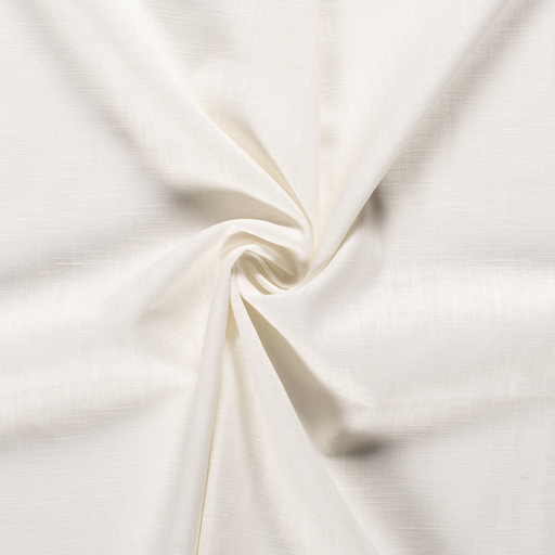 Pure linen fabric Unicolour Off White