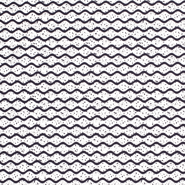 Loneta fabric Shapes Optical White