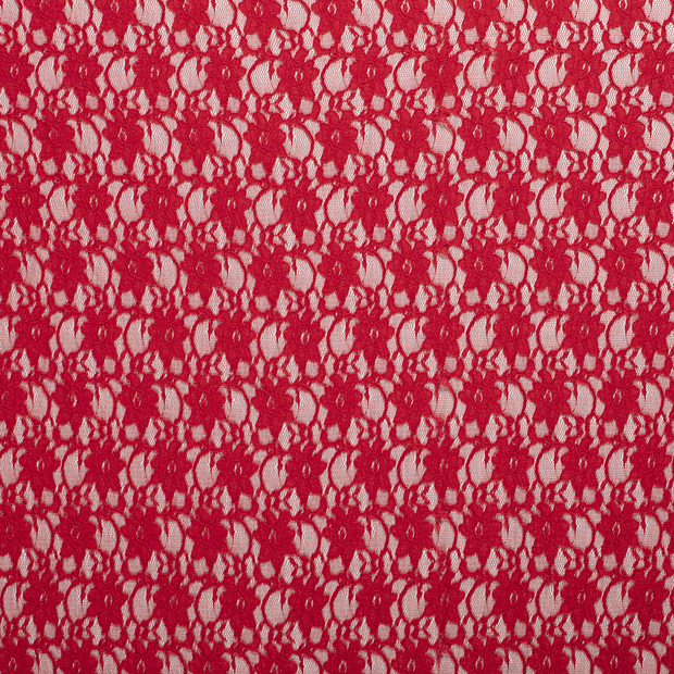 Lace fabric Red matte