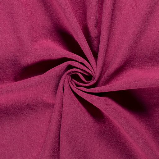 Ramie Linen fabric Unicolour Dark Pink