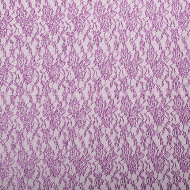 Lace fabric Lila slightly shiny