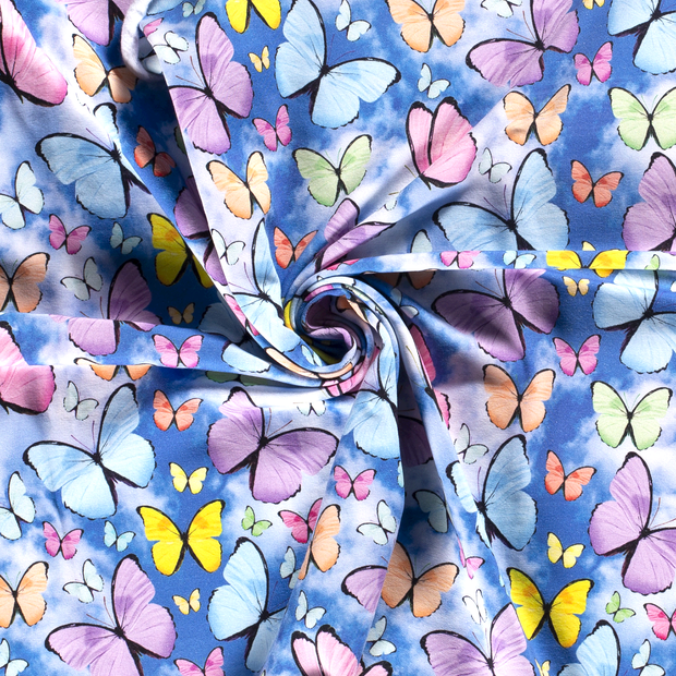 French Terry fabric Cobalt digital printed