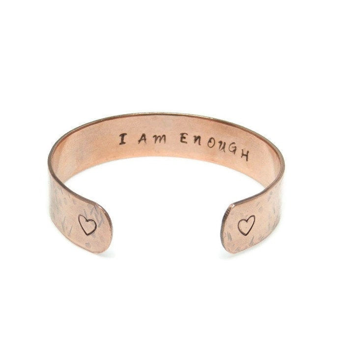 Hidden Mantra Cuff Bracelet, I Am Enough