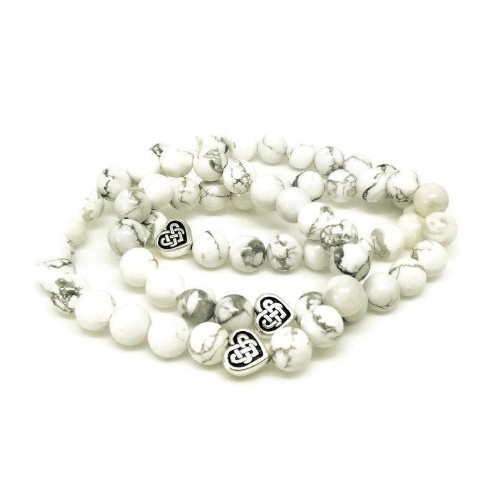 Benny's Howlite Beaded Bracelet to benefit Vet-I-Care