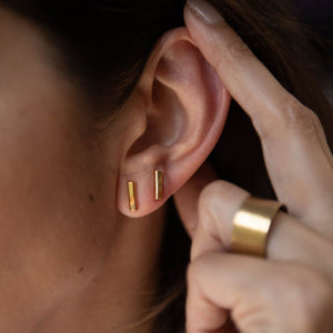 Bar Earrings 18K Gold Vermeil