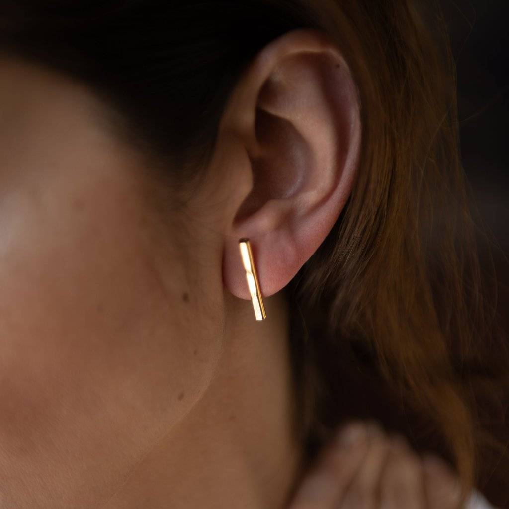 Bar Earrings 18K Gold Plated