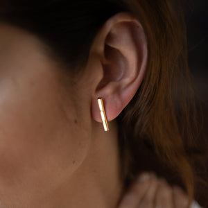 Bar Earrings 22K Gold Plated Vermeil