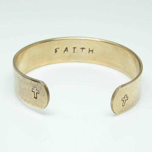 Hidden Mantra Cuff Bracelet, Faith