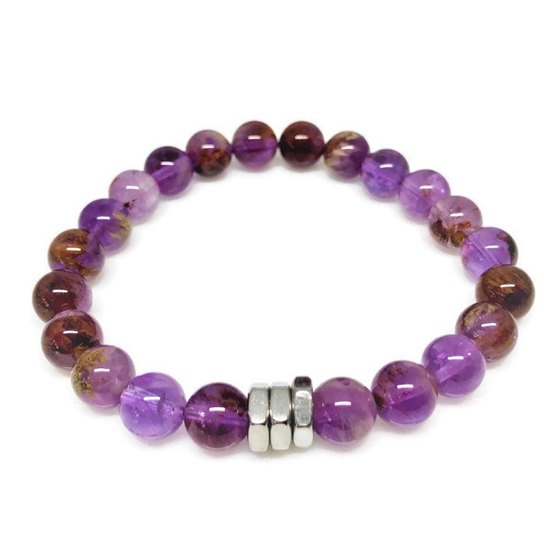 Phantom Amethyst Beaded Bracelet