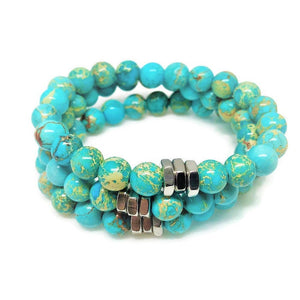 Sea Sediment Jasper Beaded Bracelet