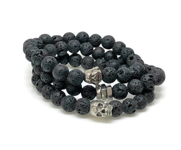 Lava Rock Diffuser Beaded Bracelet