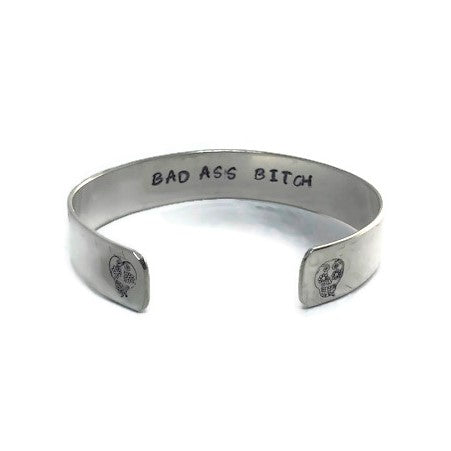 Hidden Mantra Cuff Bracelet, Bad Ass Bitch