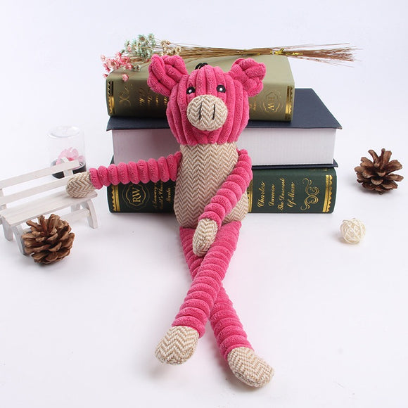 Paisley Paws Plush Squeaky Pig Dog Toy